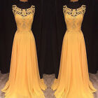 Women Lace Sleeveless Hollow Gown Long Dress Formal Party Cocktail Prom Dresses