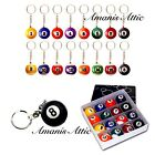 Mini Pool Ball Keyring Billiards No's 1-15 Good Luck Charm Black 8 Ball U Choose £2.95 GBP on eBay