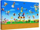 "Retro Game Super Mario Brothers 30x20"" Canvas Wall Art Picture Print Framed"