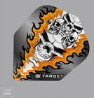 Target Pro100 Xtra Strong Quad Skull Design StdShape flight Orange 1x3or5x3 Pack