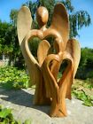 Wooden Angel Heart Carving Wooden Abstract Carving  Assorted Sizes 20cm & 30cm