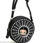 Betty Boop bling Cylinder round Cross-Body messenger Bag travel rhinestones $34.98 USD