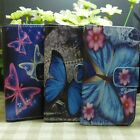 Beautiful Butterfly Wallet Holder Flip case cover for Motorola Moto Phone