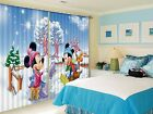 3D Mickey 88 Blockout Photo Curtain Printing Curtains Drapes Fabric Window CA
