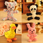 Cute Pet Dog Puppy Cat Chew Toy Rope Chew Knot Pet Teeth Cleaing Play Toy EB2