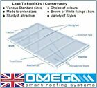 Lean To Conservatory Roof Kit DIY - 2m Projection, 10/16/25mm Polycarbonate