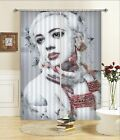 3D Frail Paint Blockout Photo Curtain Printing Curtains Drapes Fabric Window AU