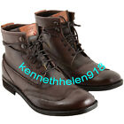 NEW LEVIS MENS MAINE LACE UP LEATHER BOOTS SHOES DARK BROWN SIZE 8.5
