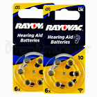 Rayovac Hearing Aid 10 Size Special batteries Zinc air Mercury free x 60 cells