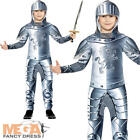 Armoured Knight Boys Fancy Dress Medieval Tudor Book Day Week Childs Costume New