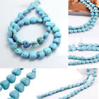 Blue Turquoise Gemstone Spacer Loose Beads Charm Findings 10mm 14mm Hot