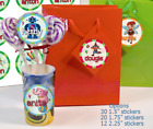 30 Round Lollipop Favor bag Stickers PERSONALIZED Birthday Baby Shower 3 SIZES
