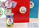 30 Round Favor Lollipop Stickers PERSONALIZED Birthday PRINCESS labels 3 SIZES