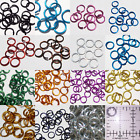 Внешний вид - 1/4 16g Anodized Aluminum JUMP RINGS 150 SAW CUT Chainmail chain mail