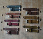 StrapsCo Vintage Style Distressed Leather Mens Wristwatch Bands Strap 20 22mm