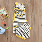 2pcs Newborn Infant Baby Boy Girl Clothes Hooded T-shirt Tops+ Pants Outfits Set