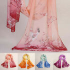 Fashion Womens Floral Skull Chiffon Scarf Soft Shawl Silk Wrap Neck Warm Stole