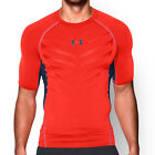 new mens S under armour compression SS/short sleeve t-shirt/top headgear orange