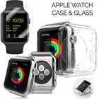 Apple 42mm iWatch Soft Shockproof TPU Clear Case + Tempered Glass Screen Film US