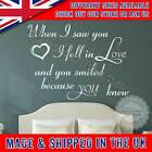 Romantic Bedroom Wall Sticker When I Saw You I Fell In Love Quote Wall Decal