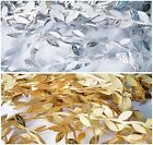 2m x Silver, Gold Artificial Leaf Flower Leaves Garland Wedding Party Home Decor