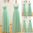 STOCK New Long Chiffon Formal Evening Prom Party Ball Bridesmaid Dress Size 6-18