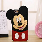 Cute 3D Cartoon Soft Silicone Rubber Gel TPU Case Back Cover For iphone Samsung