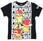 Boys Official Pokemon Cool Pikachu! T-Shirt Fashion Top Black 3 to 8 Years