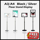 A2 /A3 / A4 Restaurant Menu Poster Display Floor  Stand Foyer Pedestal Sign