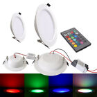 5W 10W Ultrathin Round RGB 16 Colors LED Recessed Ceiling Panel Down Lights Lamp