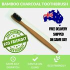 CHARCOAL BAMOO Toothbrush Oral Care Eco Dental Adult Medium Teeth Whiten Coco