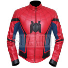 Men's Tom Holland Peter Parker Spiderman Homecoming inspired Faux Leather Jacket