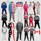 one piece jumpsuit for men - Adults Mens Non Footed Jumpsuit one Piece Pajamas Zipper Hoodie Playsuit