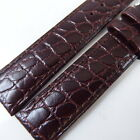 HQ 12MM 16MM~20MM UNIQUE REDDISH BROWN STRAP ITALY CROC GRAIN LEATHER WATCH BAND