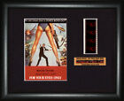 BOND 007  For Your Eyes Only     Roger Moore  FRAMED MOVIE FILMCELLS $29.52 AUD