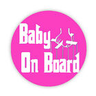 BABY ON BOARD (Godfather PINK) Pin Back Button Badges 38 45 & 58mm Mum to be pin