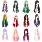 "70cm/ 28"" Fashion Wavy Sexy Harajuku Colorful Mixed Cosplay Wig Ombre Party Wigs"