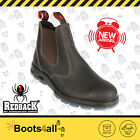 Redback Work Boots Easy Escape Chelsea Claret Oil Kip Leather UBOK UK SIZE