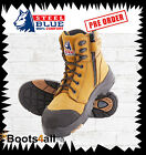New Steel Blue Work Boots Torquay 617539 Wheat Steel Toe AU Size