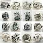 Authentic Solid 925 Sterling Silver Charms N fit European Bead Charm Bracelets