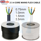 2 3 4 CORE FLEX 0.75mm 1mm 1.5mm 2.5mm Flexible Wiring PVC Extension Cable Wire