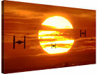 Tie Fighters Sunset Star Wars ~ Canvas Wall Art Picture Framed + Various Sizes