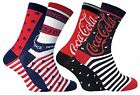 Coca Cola - 2 Pack Womens Stars and Stripes Patterned Novelty Cotton Crew Socks $15.9  on eBay