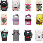 3D Animal Cartoon Soft Silicone Gel Rubber Cover Case For Samsung S8 LG MOTO G4