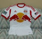 New York Red Bulls SS Soccer Jersey ADIDAS MLS Player Issue G88341 White Sz M