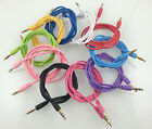 1M 3Feet 3.5MM Round Male To Male Car Stereo Auxiliary AUX Audio Cable Wholesale