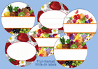 "12 Round 2"" LABELS CUSTOM or blank Jam Jelly Fruit Canning Personalized stickers"