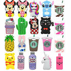 3D Animal Cartoon Soft Silicone Gel Rubber Cover Case For Samsung A7 2017 S8Plus
