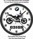 2017 BMW G310R MOTORCYCLE WALL CLOCK-FREE USA SHIP, TRIUMPH, DUCATI $26.99 USD on eBay
