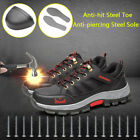 Men's Safety Shoes Fashion Steel Toe Sole Breathable Work Boots Hiking US Stock